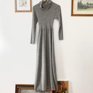 Vintage Heathered Sweater Maxi Dress